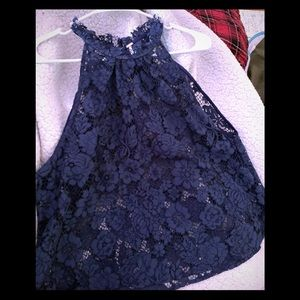 Free people navy lace tank